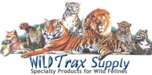 logo for wild trax wild feline cat supplies